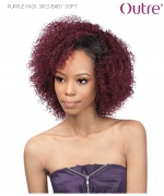 Outre Weave Extension  - BABY SOFT Premium PURPLE PACK 3 PCS Human Hair Blend Weave Extension