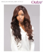 Outre Weave Extension - BRAZILIAN NATURAL DEEP(18.18.20.20.22.22+CLOSURE) 100% Non-Prosessed SIMPLY PERFECT 7 Remi Human Hair Weave Extension