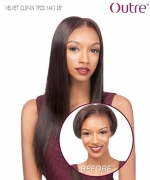 Outre Weave Extension  - YAKI 7 PCS 18 VELVET CLIP-IN Remi Human Hair Weave Extension