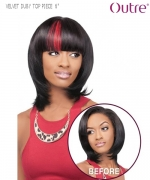 Outre Hair Piece - TOP PIECE 6 VELVET DUBY CLIP-IN BANGS Remi Human Hair Piece
