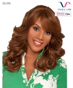 Vivica Fox Full Wig SILVER - Futura Synthetic Stretch Cap Full Wig