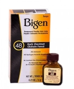 Bigen Permanent Powder Hair Color #48 Dark Chestnut 0.2oz