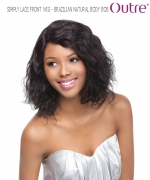 Outre Lace Front Wig - BRAZILIAN NATURAL BODY BOB  Non-Prosessed SIMPLY Lace Front Wig Remi Human Hair Lace Front Wig