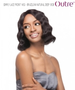 Outre Lace Front Wig - BRAZILIAN NATURAL DEEP BOB   Non-Prosessed SIMPLY Lace Front Wig Remi Human Hair Lace Front Wig