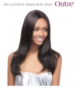 Outre Lace Front Wig - BRAZILIAN NATURAL STRAIGHT   Non-Prosessed SIMPLY Lace Front Wig Remi Human Hair Lace Front Wig
