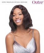 Outre Lace Front Wig - BRAZILIAN NATURAL WAVE BOB Non-Prosessed SIMPLY Lace Front Wig Remi Human Hair Lace Front Wig
