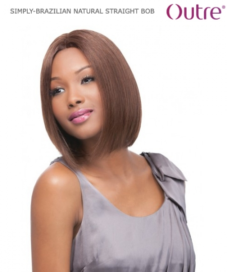 Outre Lace Front Wig - BRAZILIAN NATURAL STRAIGHT BOB   Non-Prosessed SIMPLY Lace Front Wig Remi Human Hair Lace Front Wig