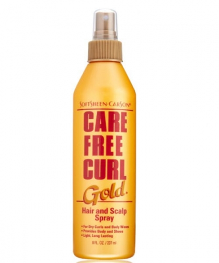 Care Free Curl Gold Hair Scalp Spray 8 oz