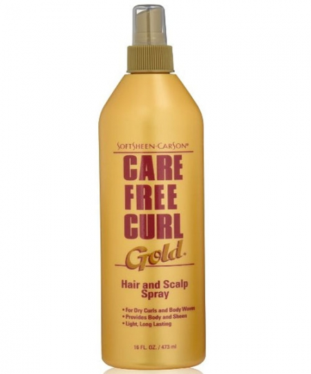 Care Free Curl Gold Hair Scalp Spray 16 oz