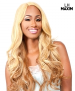 The Wig BRAZILIAN INVISIBLE DEEP PART Human Hair Blend Lace Front Wig - LH-MAXIM