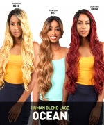 The Wig BRAZILIAN INVISIBLE DEEP PART Human Hair Blend Lace Front Wig - LH-OCEAN
