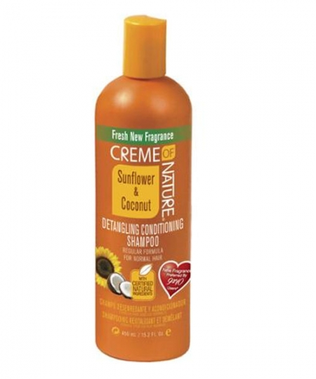 Creme Of Nature Sunflower & Coconut Detangling Conditioning Shampoo,15.2 oz