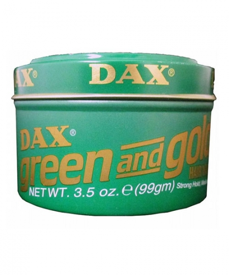 Dax Green & Gold Hair Wax 3.5 oz
