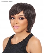 It's a wig Human Hair Cap Weave  Full Wig - HH WISPY BRAID