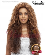 Vanessa Lace Front Wig T4HB MOGANY - Human Hair Blend Brazilian Human Hair Blend Lace Front Wig