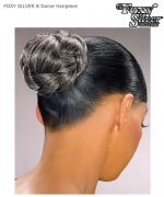 Foxy Silver Hair Piece - B-DOME  Synthetic Hair Piece