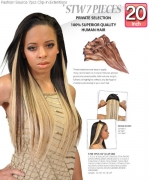Fashion Source - STW20 Human Hair Clip-In hair Extension