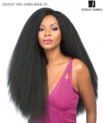 Sensationnel 100% PREMIUM FIBER Synthetic Half Wig - CROCHET WIG-JUMBO BRAID 20