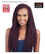 Model Model Braid - 2X MEDIUM SOFT FAUX LOC 18 GLANCE Synthetic Braid