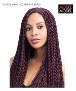 Model Model Braid - LONG MEDIUM BOX BRAID GLANCE Synthetic Braid