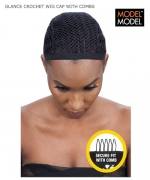 Model Model Hair Piece - CROCHET WIG CAP WITH COMBS GLANCE Synthetic Hair Piece