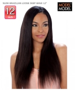 Model Model Weaving Hair - BRAZILIAN LOOSE DEEP WAVE 12 NUDE Remi Human Hair Weaving Hair