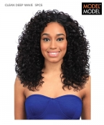 Model Model Weaving Hair  - CLEAN DEEP WAVE 5PCS CLEAN Human Hair Weaving Hair