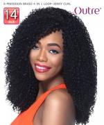 Outre Braid - X-PRESSION BRAID 4 IN 1 LOOP JERRY CURL 14  Synthetic Braid