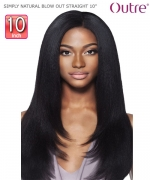 Outre SIMPLY NATURAL BLOW OUT STRAIGHT 10  Human Hair Weave Extension