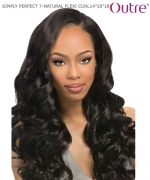 Outre SIMPLY PERFECT 7 - NATURAL FLEXI CURL 14.16.18  Human Hair Weave Extension