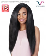 Vivica Fox Weave Extention LOVELOCK CROCHET NATURAL PERM BRAID - Human Hair  Weave Extention