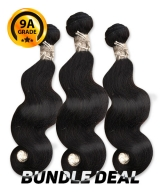 Top Hair Design  - BRAZILIAN 100% Virgin Human Hair BODY WAVY 3 PC(NATURAL COLOR) -  9A (105 Gram each, 3 bundle with free closure-$19.99 value)