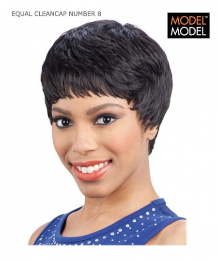 Model Model Full Wig - CLEANCAP NUMBER 8  EQUAL Synthetic Full Wig