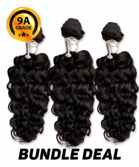 Top Hair Design  - BRAZILIAN 100% Virgin Human Hair KINKY CURL 3 PC(NATURAL COLOR) -  9A (105 Gram each, 3 bundle with free closure-$19.99 value)