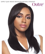 Outre  SIMPLY QUIK WEAVE - BRAZILIAN NATURAL STRAIGHT  Human Hair Half Wig