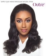Outre  SIMPLY QUIK WEAVE - BRAZILIAN NATURAL WAVE  Human Hair Half Wig
