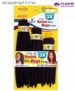 New Born Free Synthetic Hair Piece - Natty Havana Slim Mega NHSM 8 10 12 Twist