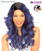 New Born Free Synthetic Lace Front Wig - MAGIC LACE CURVED PART MLC 186