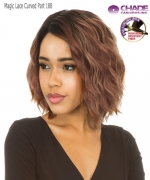 New Born Free Synthetic Lace Front Wig - MAGIC LACE CURVED PART MLC188