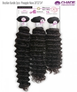 New Born Free Weave extention - Brazilian Bundle 3pcs- Pineapple Wave 20