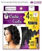 New Born Free Human Hair Blend Weave extention - Remi Touch 4pcs Double Pack-Body Twist 8