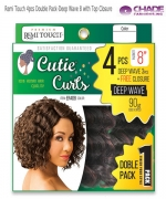New Born Free Human Hair Blend Weave extention - Remi Touch 4pcs Double Pack-Deep Wave 8 with Top Closure