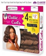 New Born Free Human Hair Blend Weave extention - Remi Touch 4pcs Double Pack-Ripple Deep 8