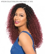 Sensationnel SNAP 3X Synthetic Hair Piece - AFRICAN COLLECTION(LOOP BRAID)-DEEP TWIST 12 3PCS