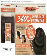 Sensationnel SWISS LACE CLOSURE Remi Human Hair Weave Extention - BARE&NATURAL 360 FRONTAL BRAZILIAN YAKI 12