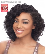 Sensationnel 100% PERUVIAN VIRGIN   Remi Human Hair Weave Extention - BARE&NATURAL GLAM 10S 3PCS