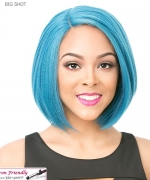 It's a wig Synthetic  Full Wig - BIG SHOT