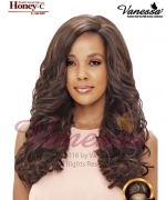 Vanessa Human Hair Blend Lace Front Wig - HONEY C MOONBY