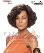Vanessa Human Hair Blend Lace Front Wig - HONEY C TETIA
