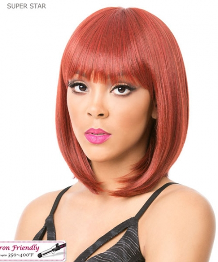 It's a wig Synthetic  Full Wig - SUPER STAR